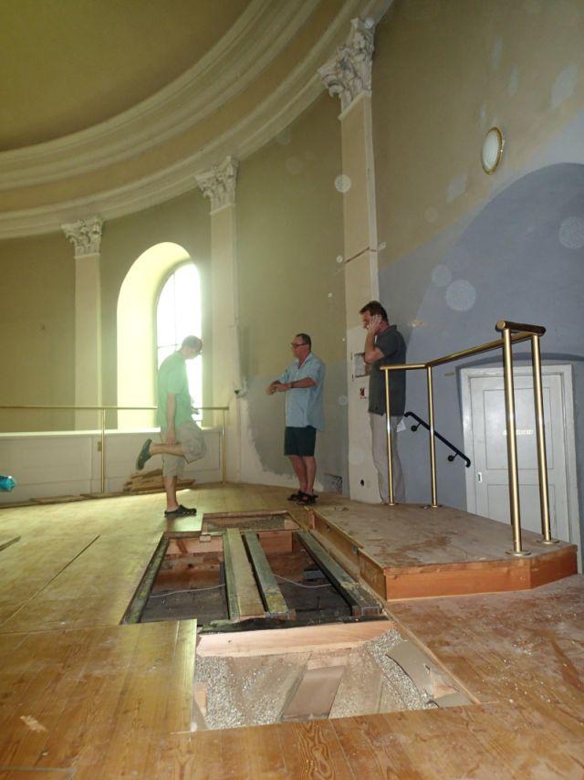 Renovierung der Kirche - Chor. © Wolfgang Chalupsky