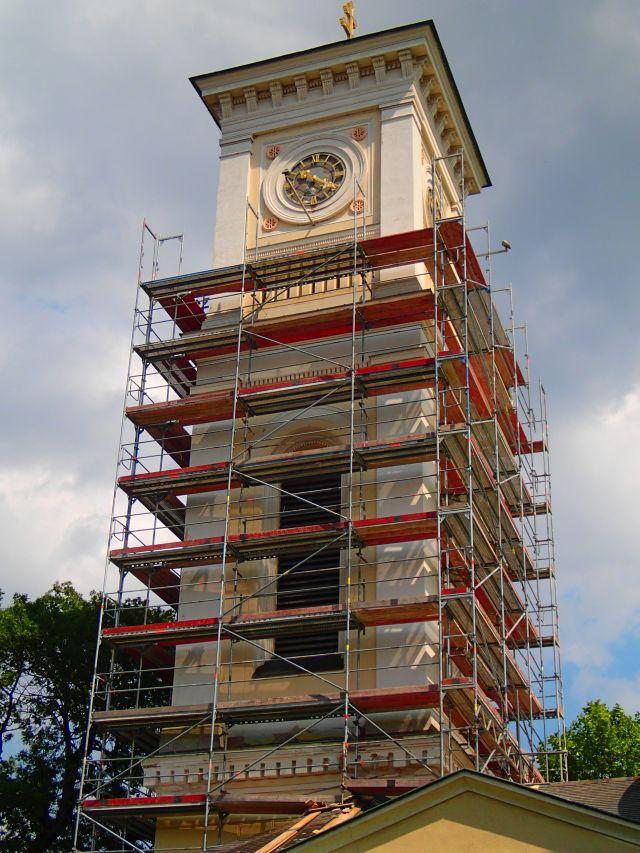 Renovierung der Kirche - Kirchenturm. © Wolfgang Chalupsky