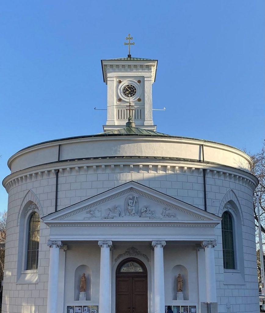 Kirche, Aussenansicht, zugeschnitten. © Oliver Meidl