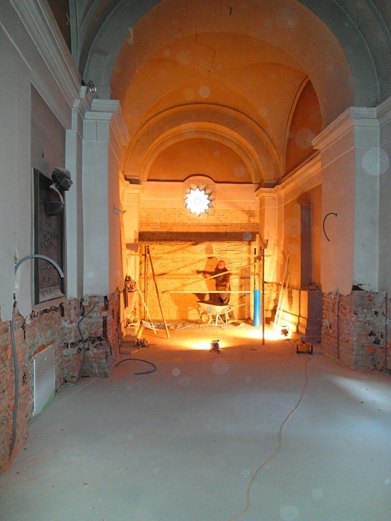 Renovierung der Kirche, Arbeiten in der Kapelle, © Wolfgang Chalupsky