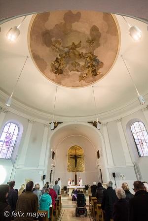 Kirchenraum nach der Renovierung 2016. © Felix Mayer