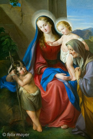 Maria-Gemälde im Kirchenraum. © Felix Mayer