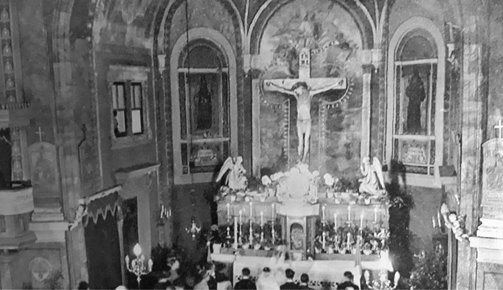 Kirche, Innenraum, 1936