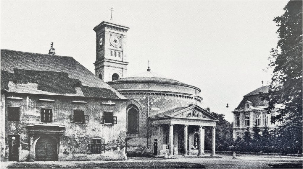 Kirchenplatz mit Kirche und Altem Schloss, Fotografie 1930