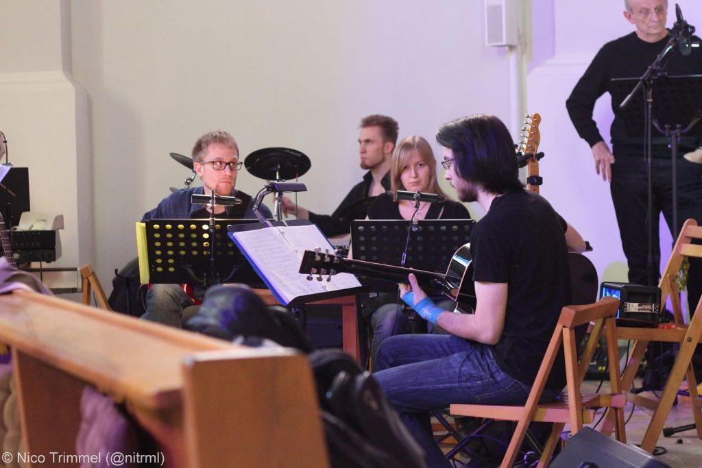 "Band der Produktion ""Jesus Christus Superstar"" 2017. © Nico Trimmel"