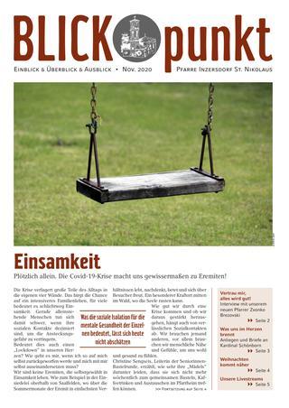Cover des Blickpunkt Advent 2020
