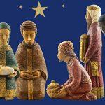 Krippenfeier nonstop / Krippe: Bethlehemschwestern, Foto: Nikolaus Stockert, Grafik: wwgrafik