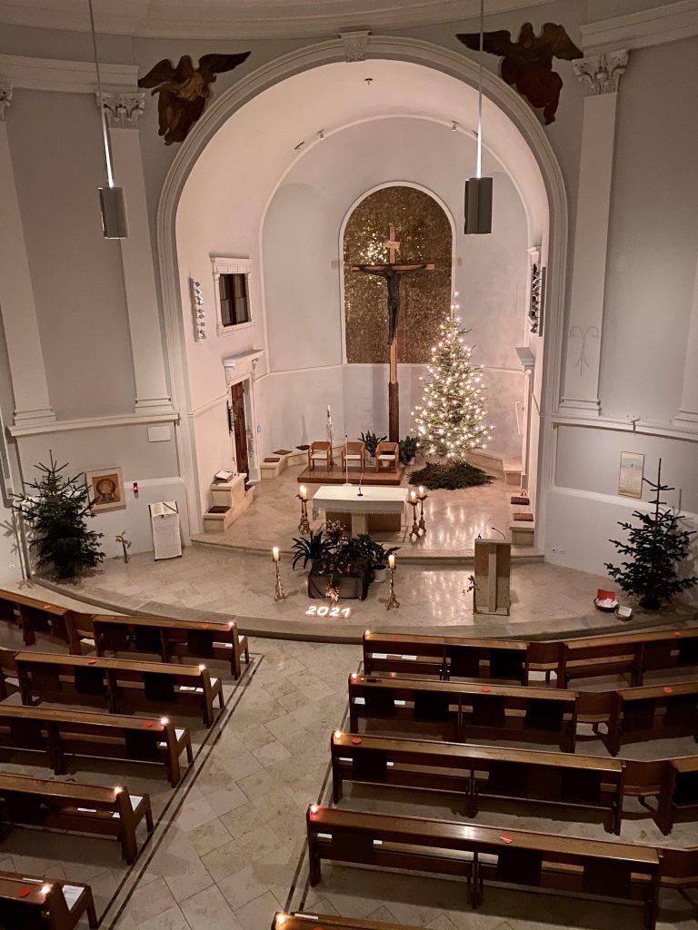 Offene Kirche zu Silvester 2020. © Christoph Heimhilcher